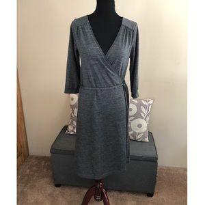 H&M Grey Wrap Dress Size 12